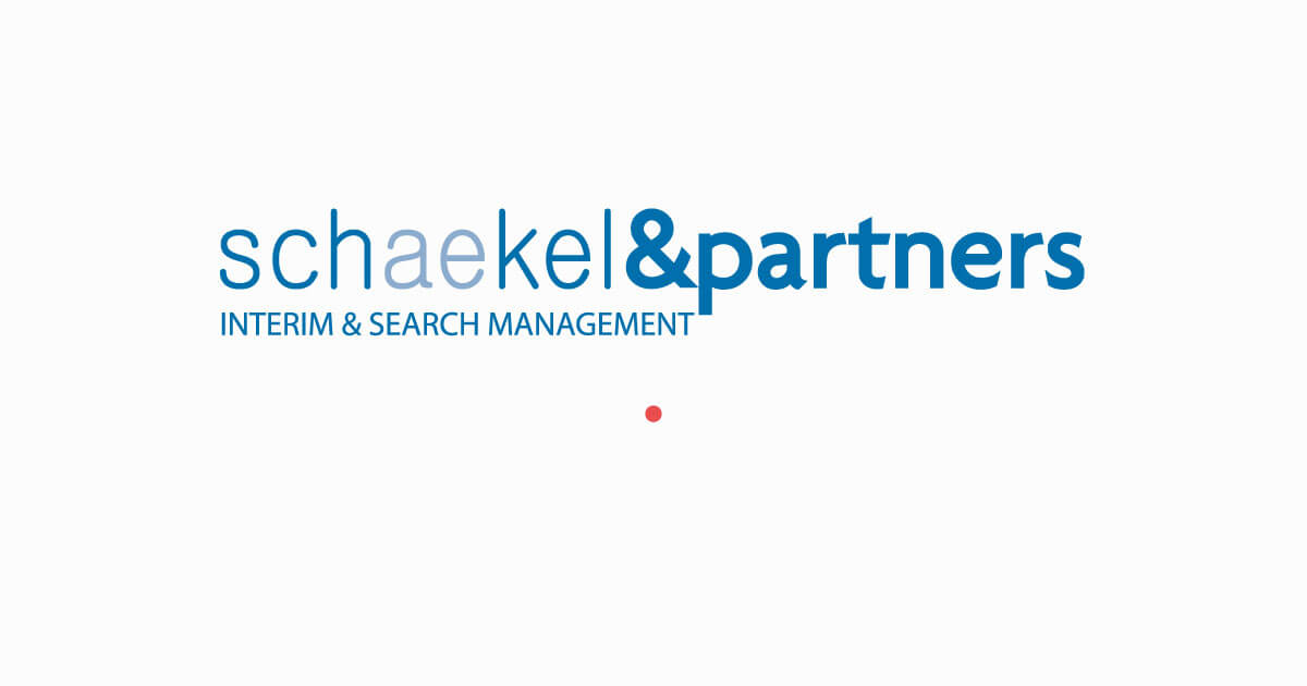 Logo met stip | Interim Management & Search Management | Schaekel & Partners