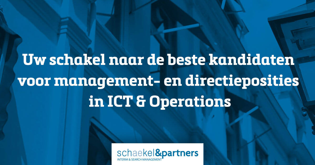 Inspiratie Interim Manager | Schaekel & Partners | Interim- & Search Management