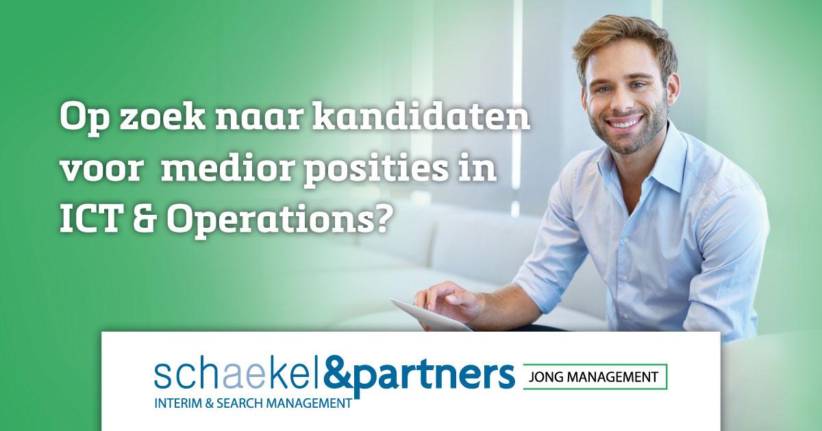 Visual Jong management | Medior posities in ICT & Operations| Schaekel & Partners